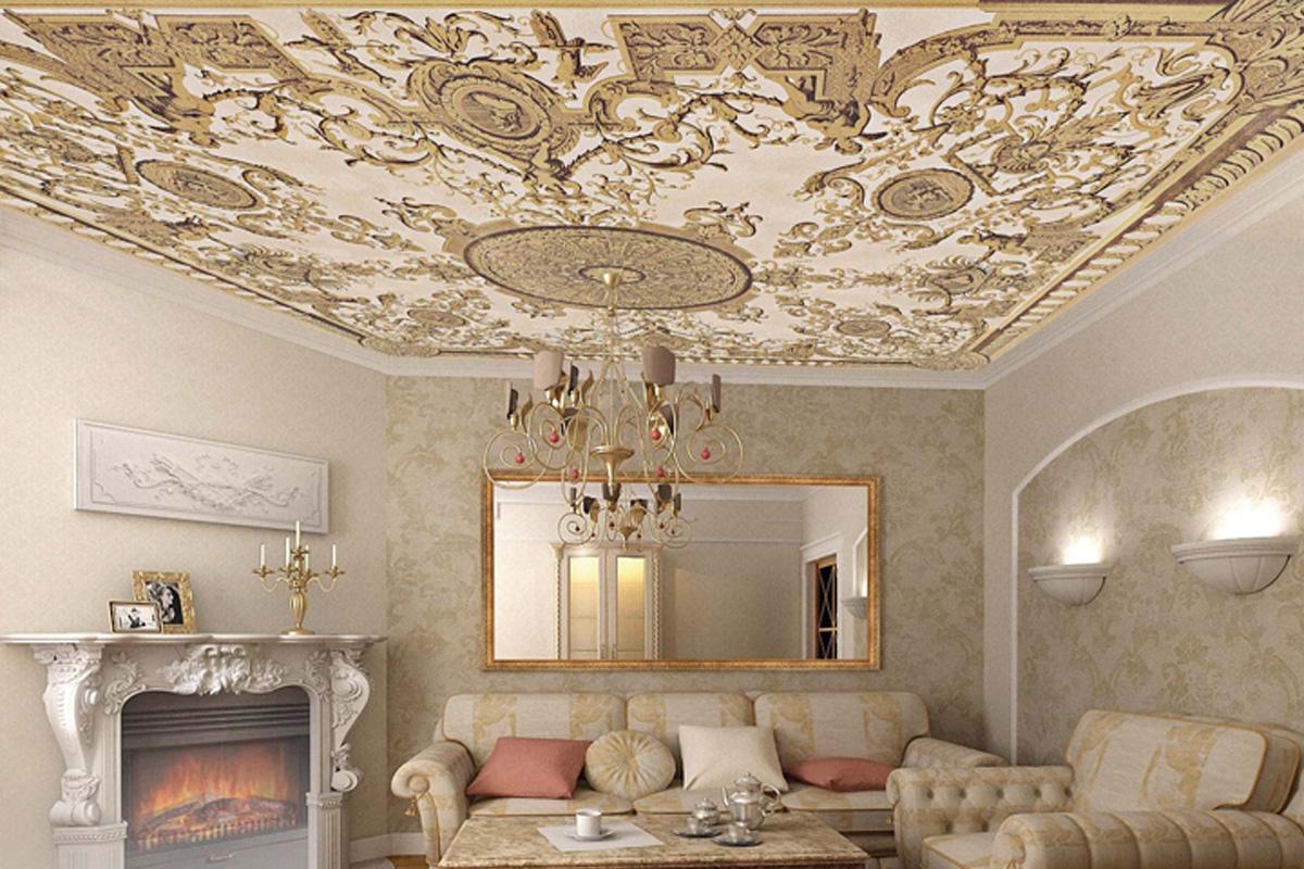 фрески на потолках фотопечать