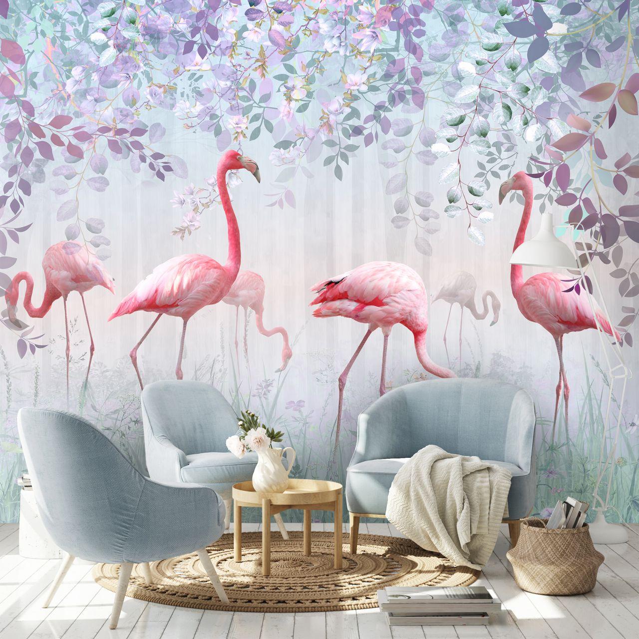 фотопечать фламинго