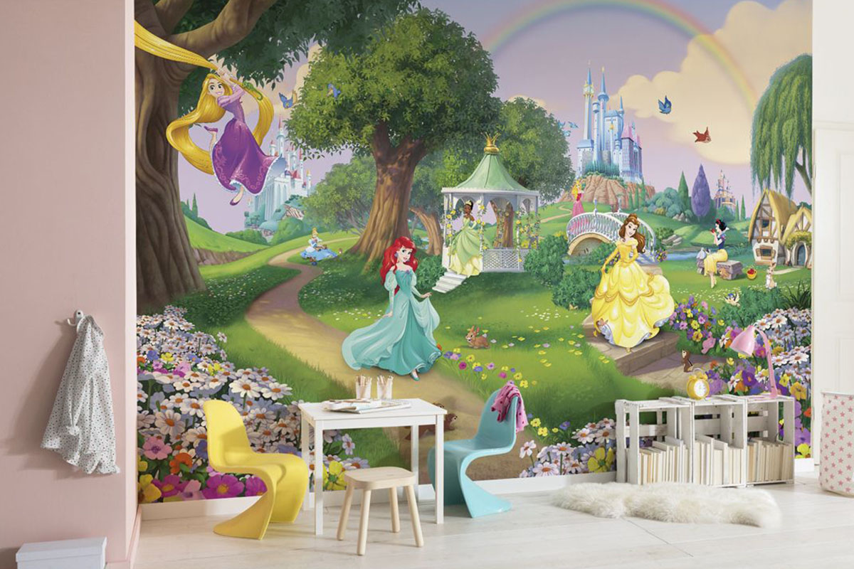 фотообои в детскую принцессы дисней
