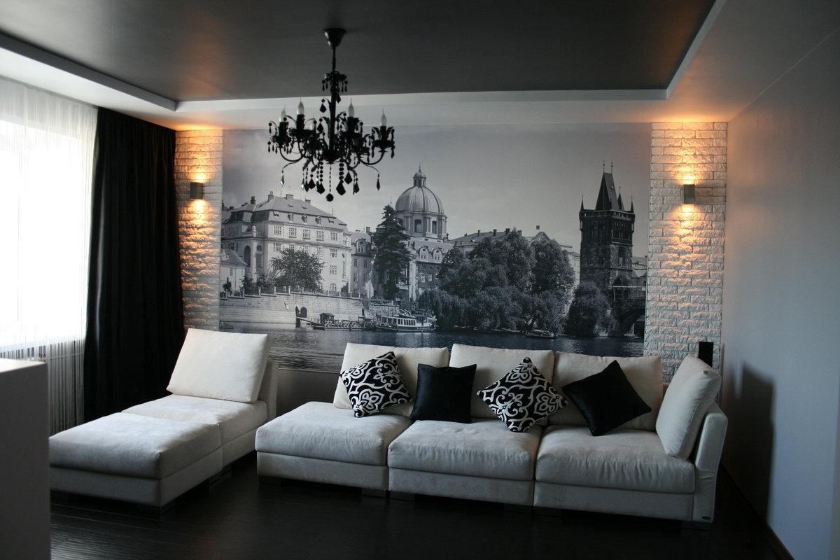 фотообои в гостиной фото