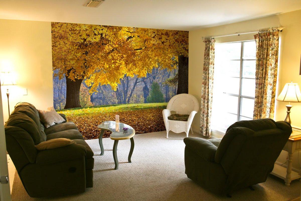 фотообои в гостиную осенний пейзаж