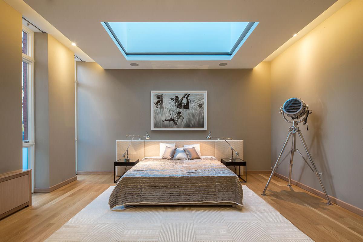 двухуровневые потолки в спальне