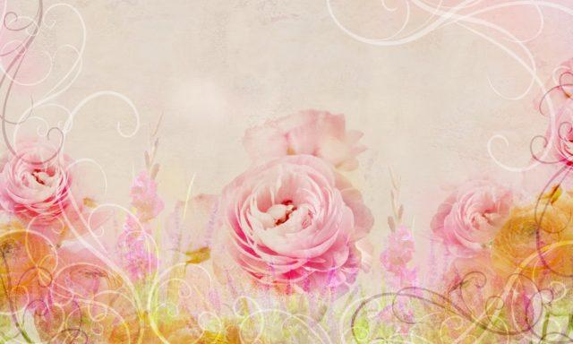 Фотообои с большой розой