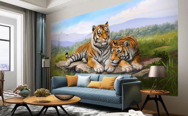 фотообои тигры