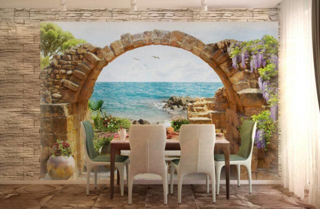 Фотообои арка и море